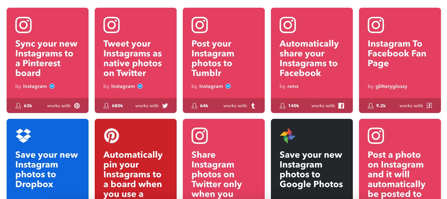IFTTT Triggers for Instagram