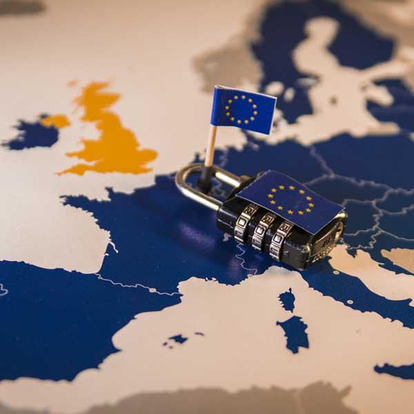 EU GDPR map