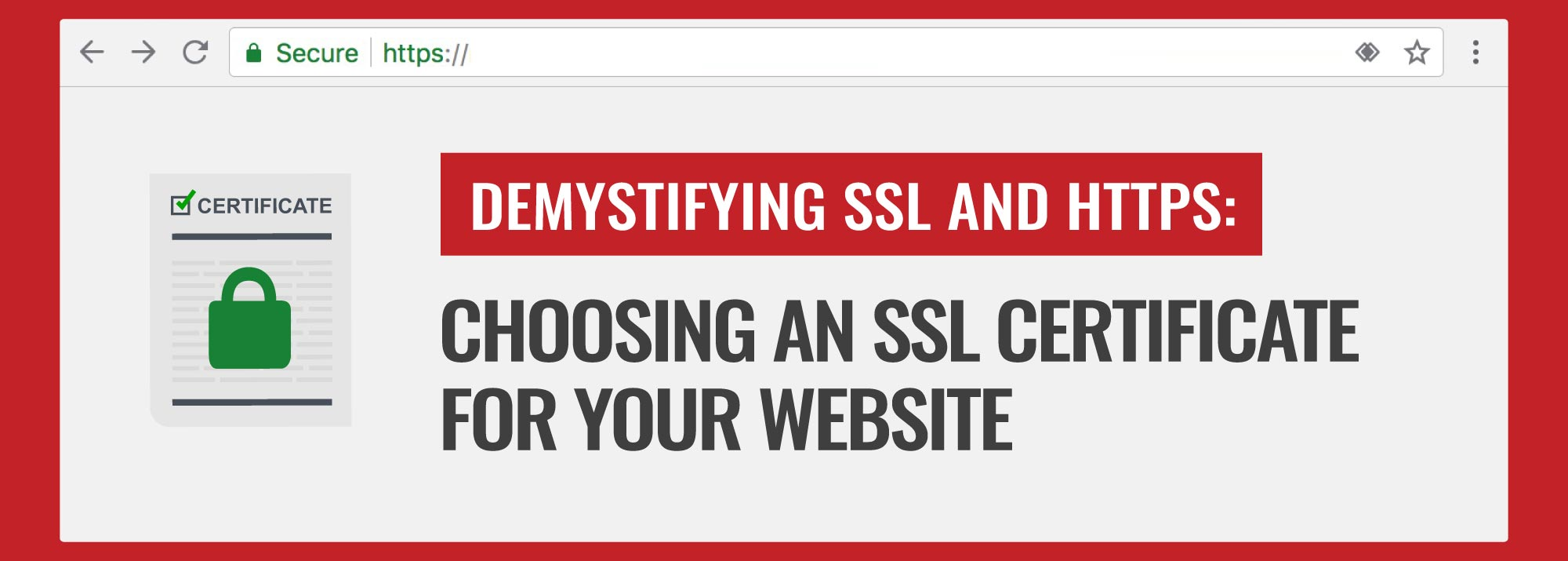 Choosing An Ssl Certificate For Your Website The Sitelock Blog