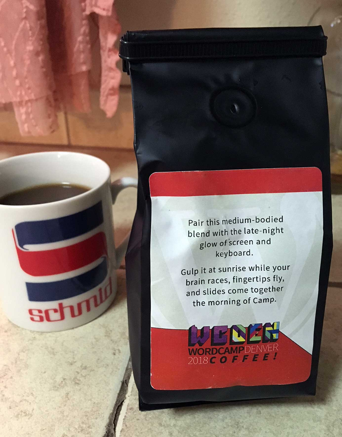 WCDenver 2018 coffee speaker's gift
