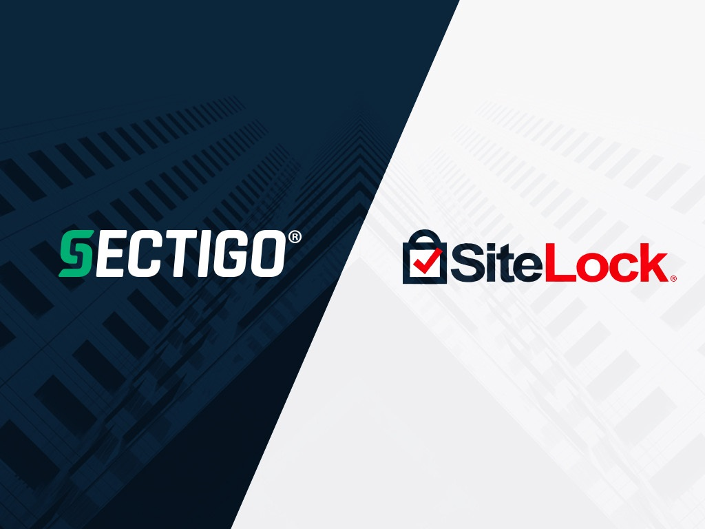 Sectigo and SiteLock logos side by side