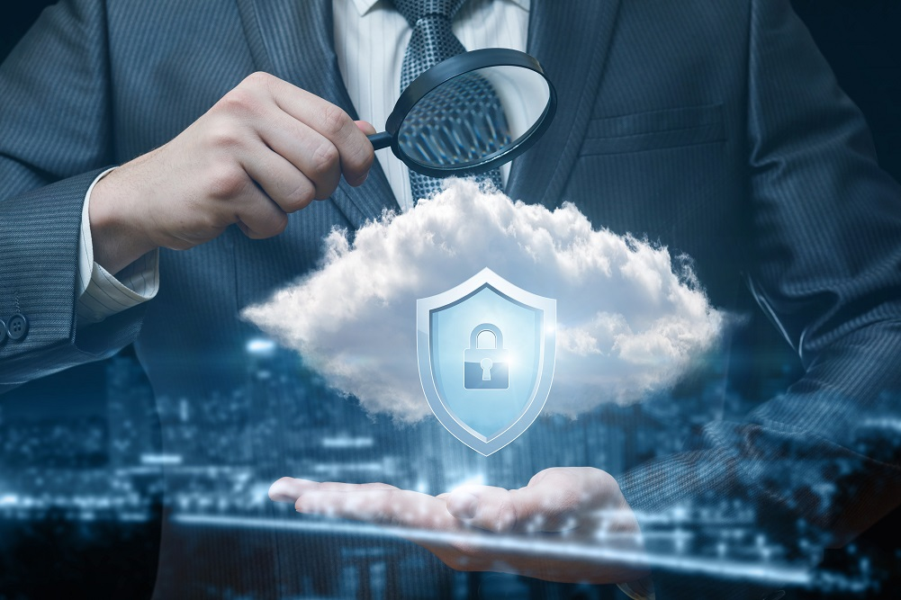 Man exploring how secure the cloud can be..