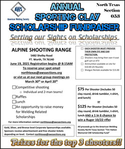 AWS North Texas Section Sporting Clay Scholarship Fundraiser