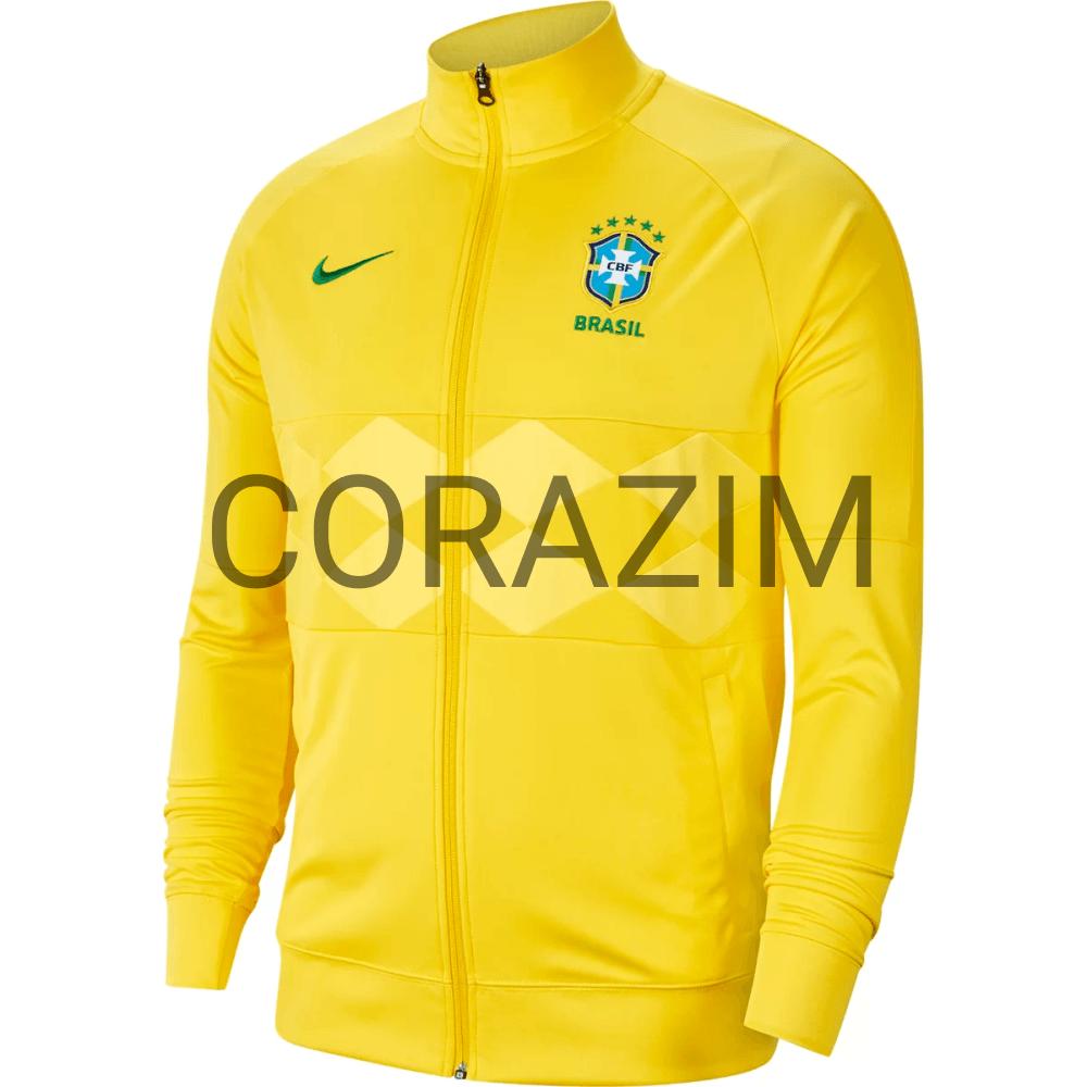 Jaqueta Seleção Brasil 20/21 Hino Nike Masculina - Amarelo