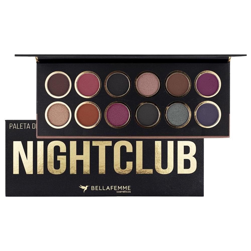 Paleta De Sombras Nightclub - bella femme
