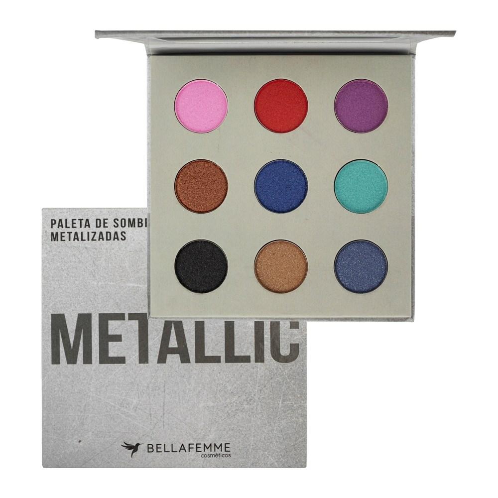 Paleta De Sombras Metallic - Bella Femme