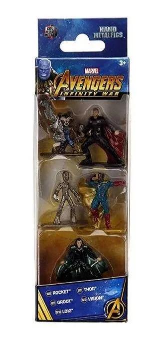 5 Vingadores Metal - Dtc - Pack A