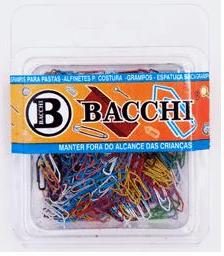 Clips colorido nº 5/0 caixa c/ 300 Un - Bacchi