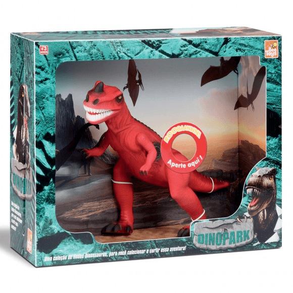 Tiranossauro Dinossauro Rex Vermelho Com Som Dinopark