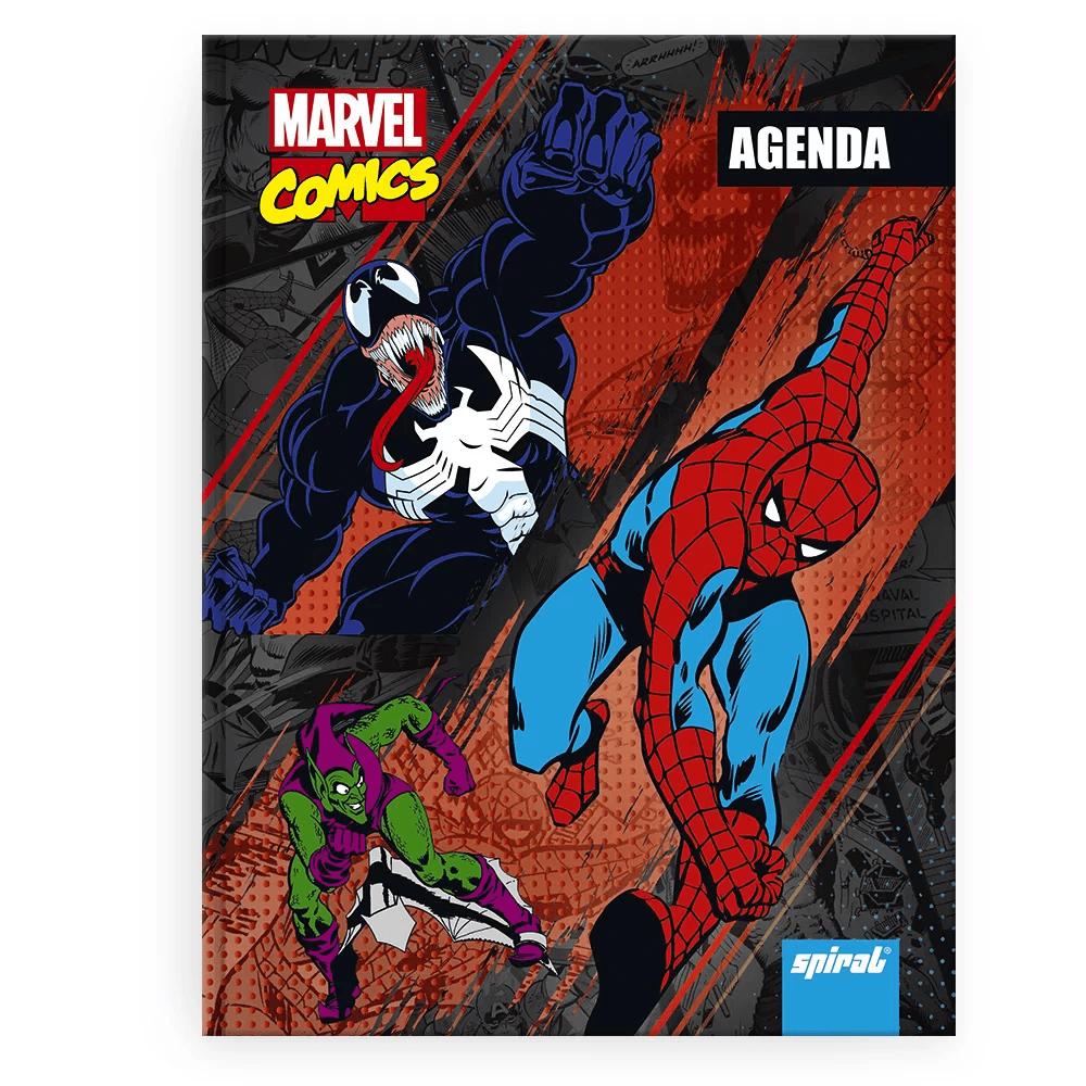 Agenda escolar Marvel Comics Homem Aranha Spiral PT 1 UN