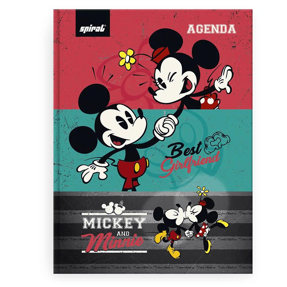 Agenda escolar Mickey Mouse Spiral PT 1 UN