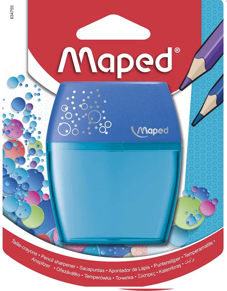 Apontador c/deposito Shaker 2 furos Azul Maped BT 1 UN