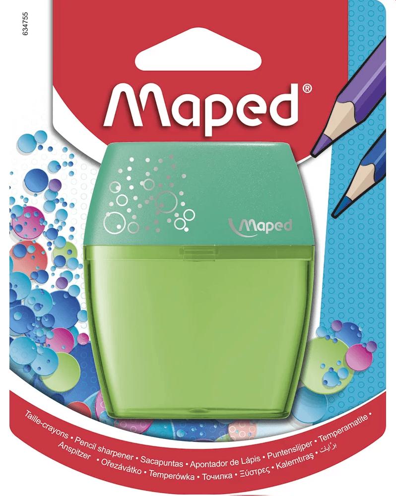 Apontador c/deposito Shaker 2 furos Verde Maped BT 1 UN