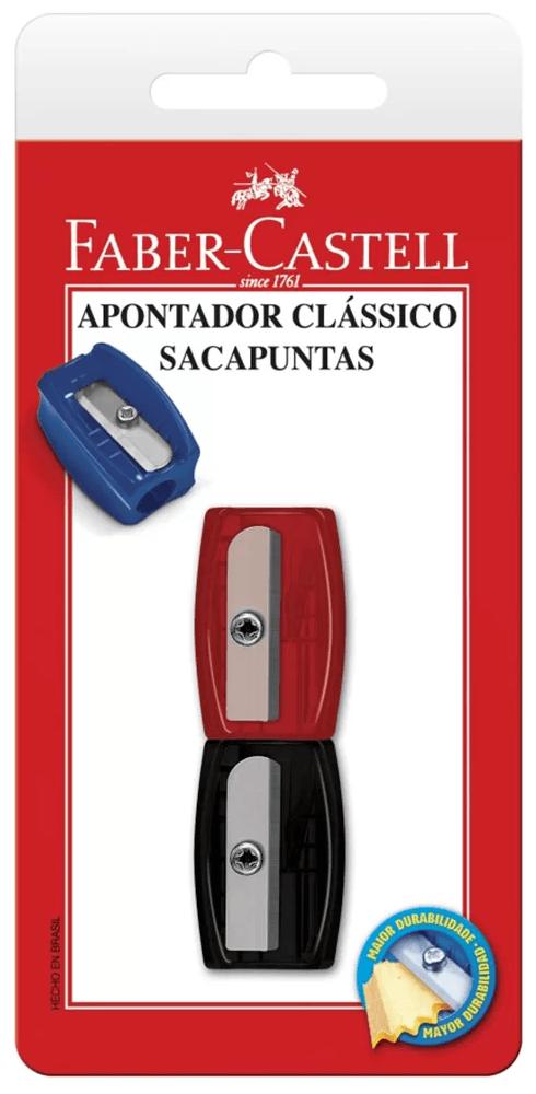 Apontador simples sortido SM/060100ZF Faber Castell BT 2 UN