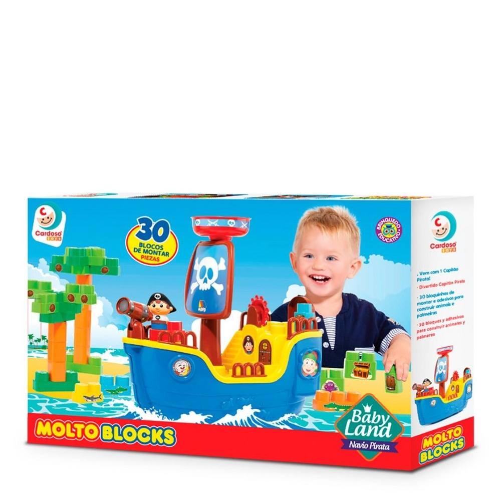 Baby Land Navio Pirata com 30 Blocos - Cardoso Toys