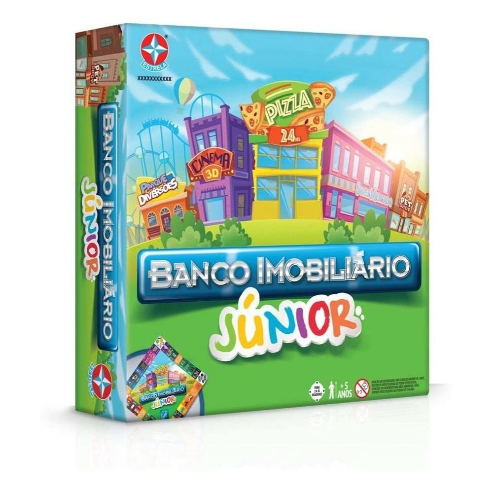 Banco Imobiliário Junior 24 peças - Estrela