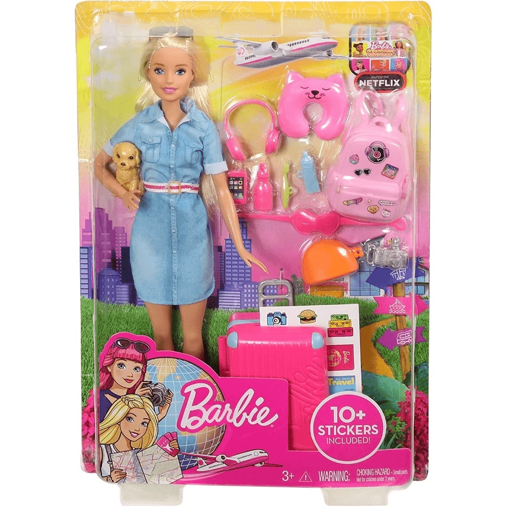 Barbie Viajante Com Pet Fwv25