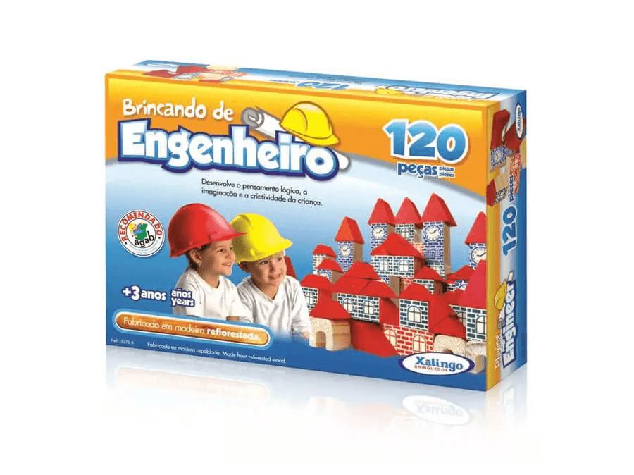 Blocos Brincando De Engenheiro 120 peças - Xalingo