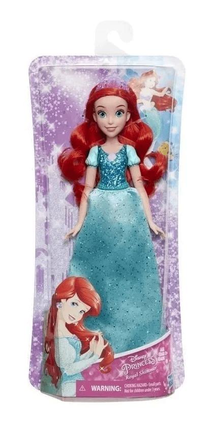 Boneca Clássica - 30 Cm - Princesas Disney - Ariel - Brilho Real - Hasbro