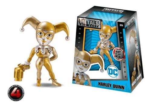 Boneca Harley Quinn Golden - Metal Die Cast - Original