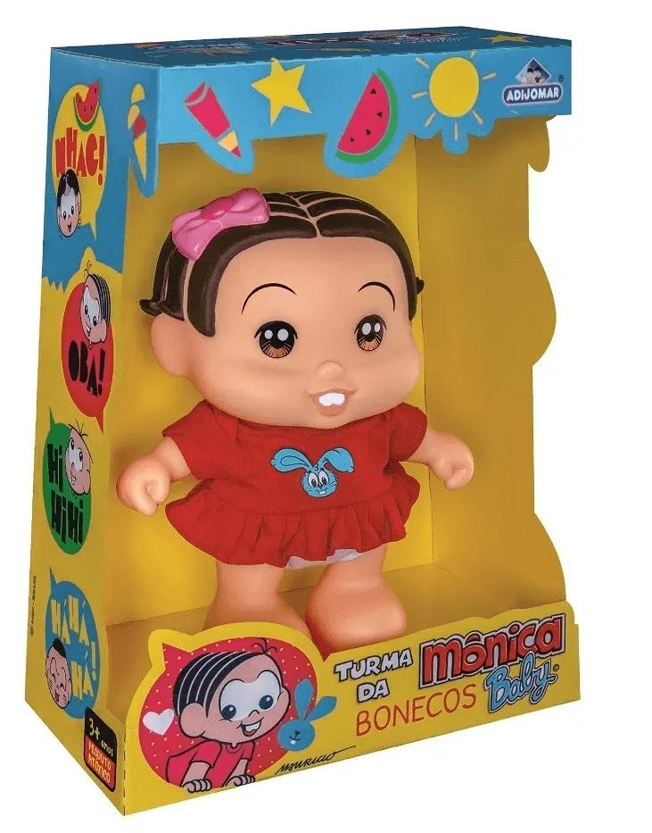 Boneco Baby Mônica - Turma Da Monica Fala Frases Adijomar
