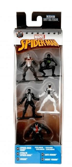 Boneco De Metal Nano Marvel Homem Aranha Pack