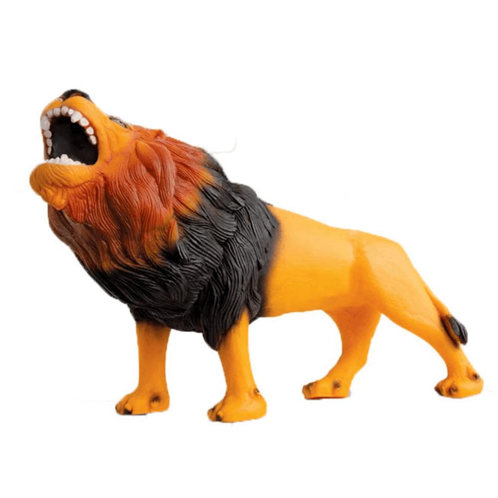 Boneco Leão em Vinil Coleção Real Animal