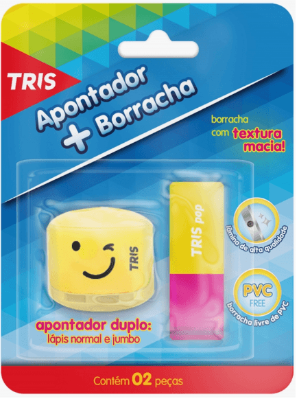 Borracha + Apontador - Tris Plus