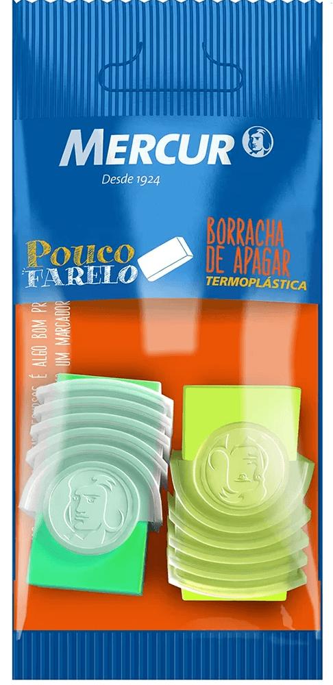 Borracha c/cinta plástica neon am+vd Mercur BT 2 UN
