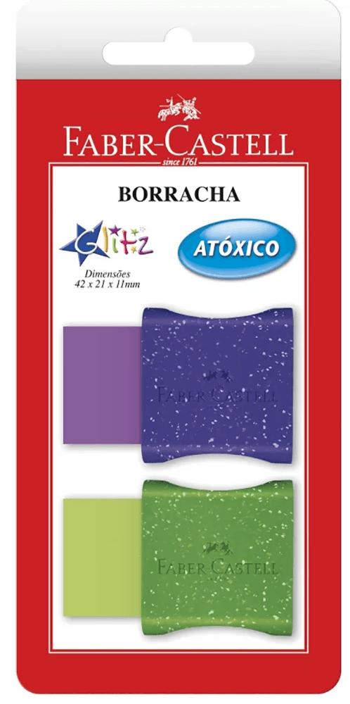 Borracha color c/cinta Glitz SM7024GLI Faber Castell BT 1 UN