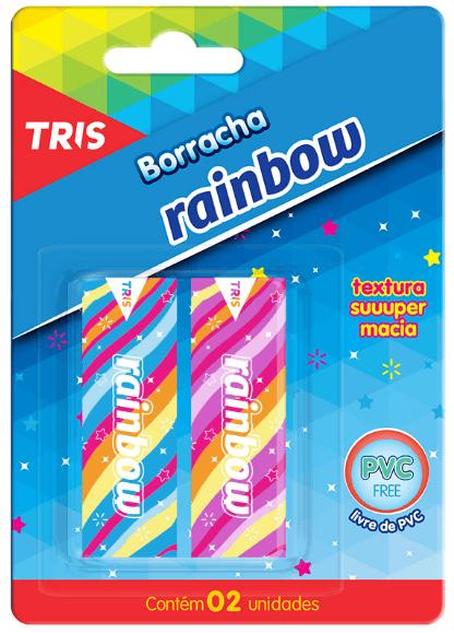 Borracha Plástica 2 unidades - Tris Rainbow
