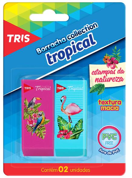 Borracha Plástica 2 unidades - Tris Tropical Collection