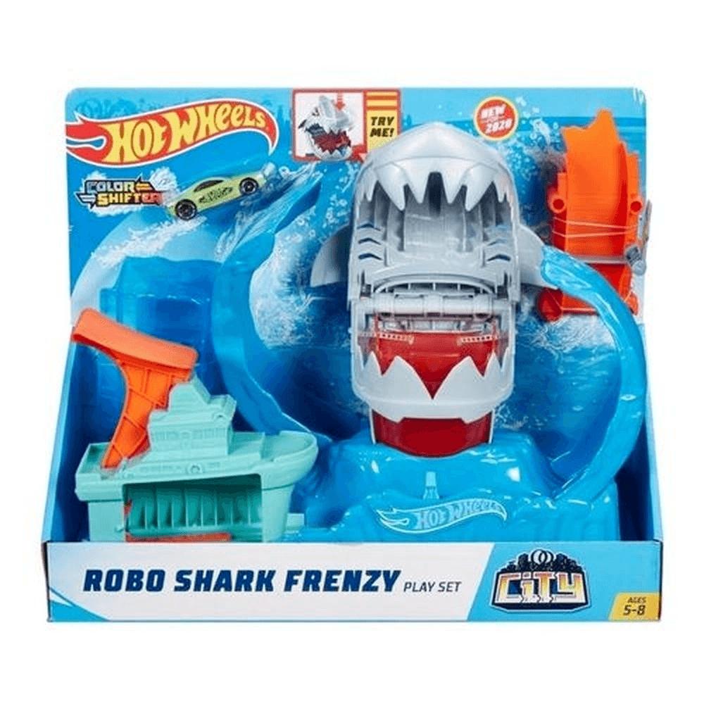 Brinquedo Pista Hot Wheels City Robo Tubarão