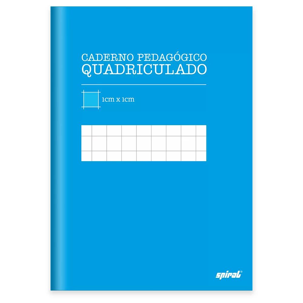 Caderno 1/4 capa dura costurado 96fls quadriculado azul 19961 Spiral PT 1 UN