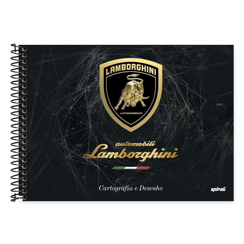 Caderno cartografia capa dura 48fl Lamborghini 20926 Spiral Lb PT 1 UN
