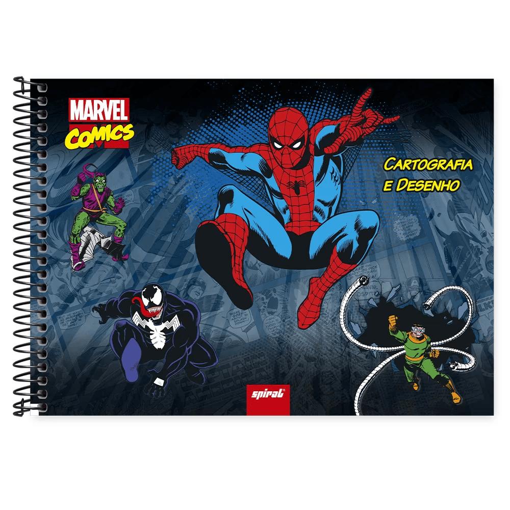 Caderno cartografia capa dura 48fl Marvel Comic 212858 Spiral Mv PT 1 UN