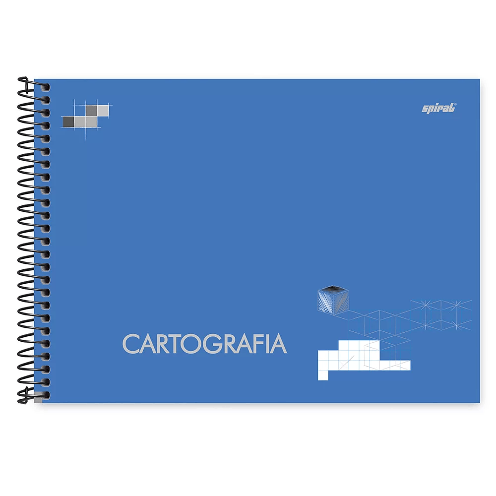 Caderno de desenho e cartografia capa dura 48fl milimetrado 79163 Spiral PT 1 UN