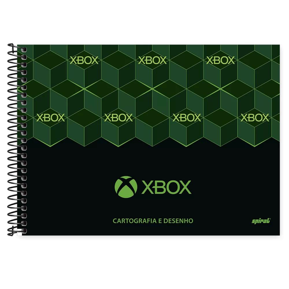 Caderno cartografia capa dura 48fl Xbox 212888 Spiral Xbox PT 1 UN