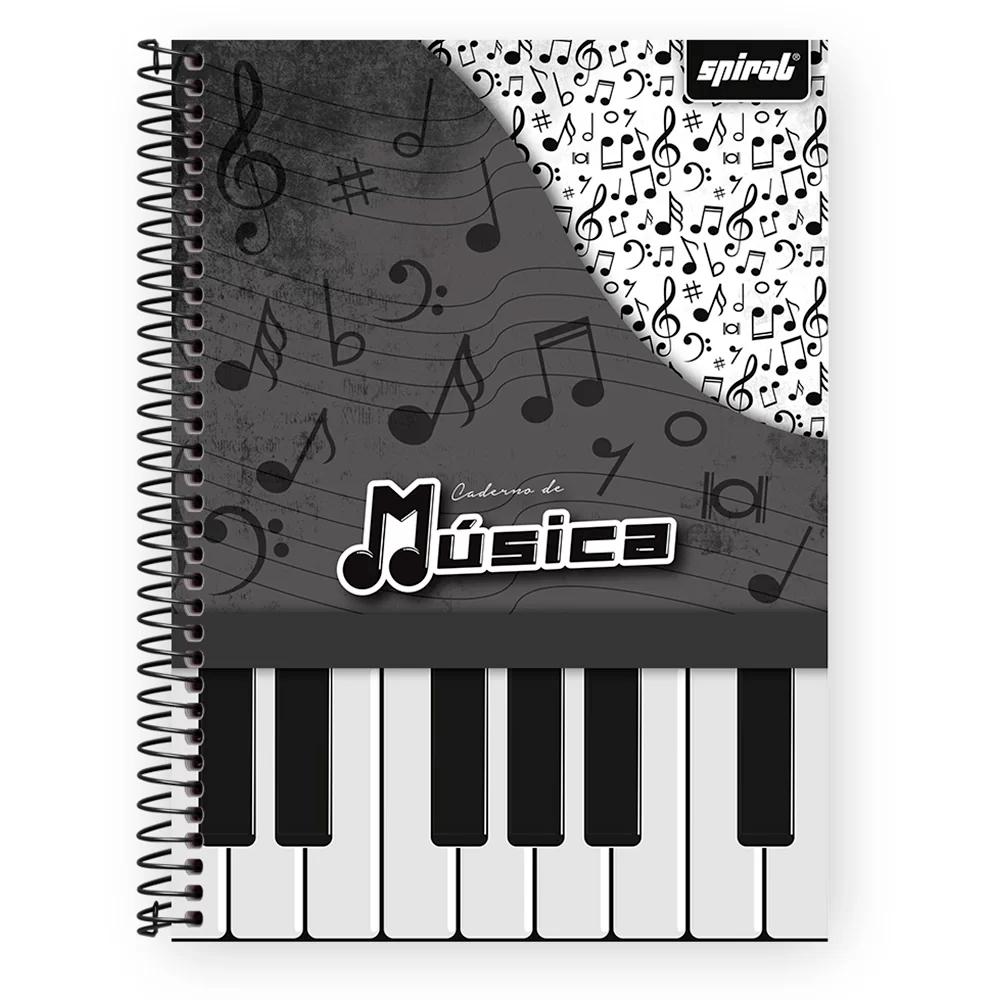 Caderno de Música universitário capa dura 96 fls 03271 Spiral PT 1 UN