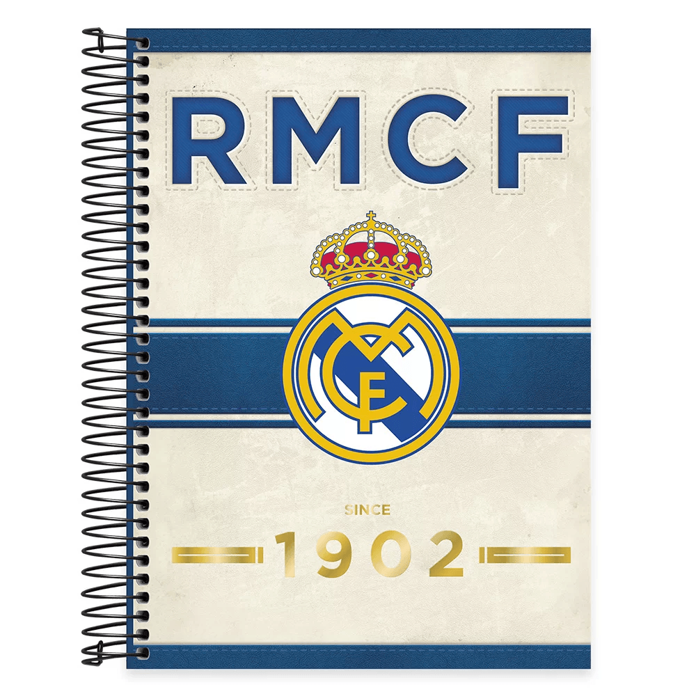 Caderno univ.capa dura 15x1 300fls Real Madrid 20606 Spiral Rea PT 1 UN