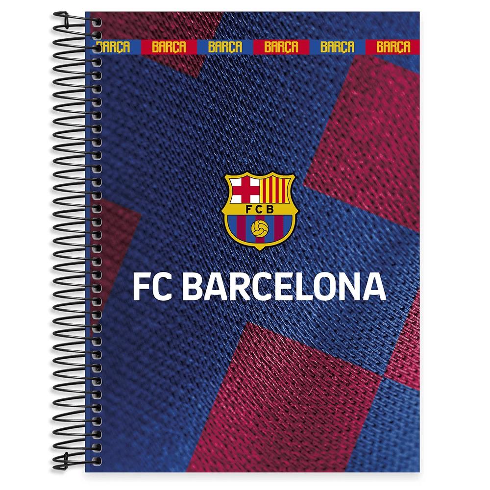 Caderno universitário capa dura 10x1 160 folhas Barcelona 211813 Spiral PT 1 UN