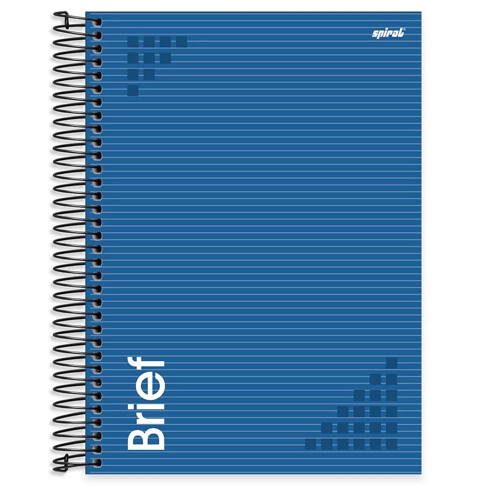 Caderno universitário capa dura 10x1 160 folhas Brief Case Azul 211955 Spiral UN 1 UN