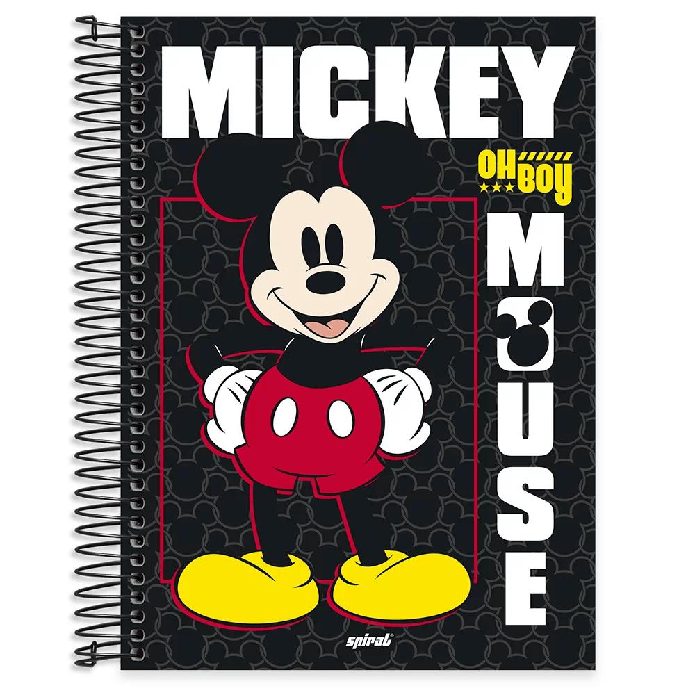 Caderno universitário capa dura 10x1 160 folhas Disney Mickey Clássico 211797 Spiral PT 1 UN