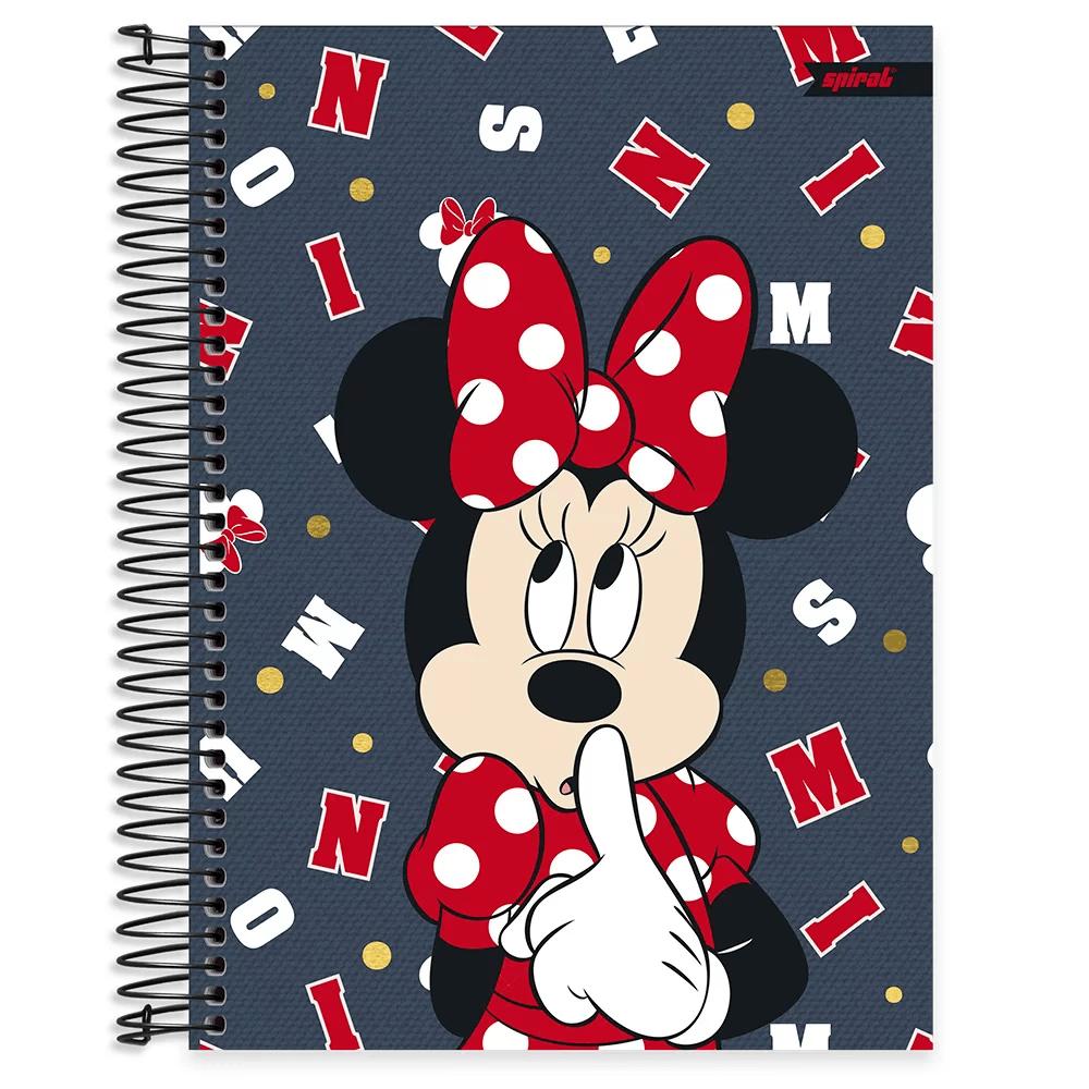 Caderno universitário capa dura 10x1 160 folhas Disney Minnie Clássico 211798 Spiral PT 1 UN