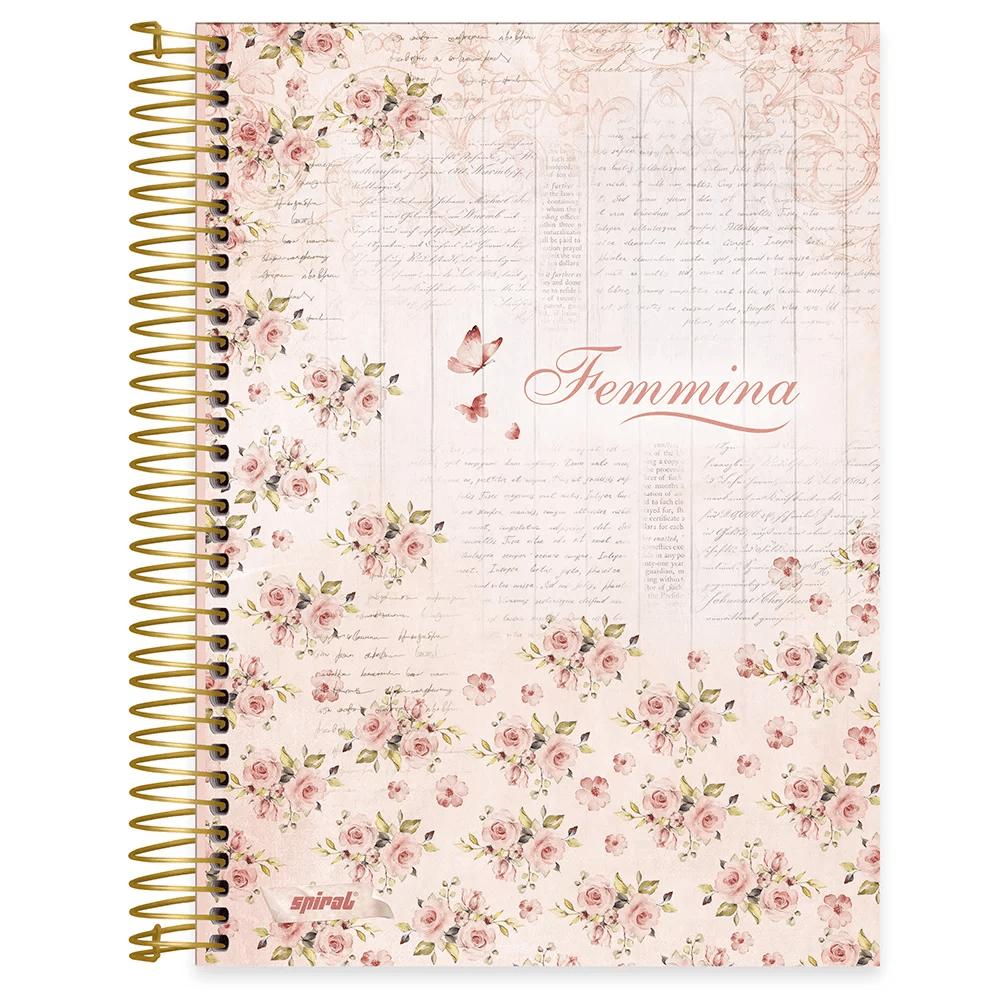Caderno universitário capa dura 10x1 160 folhas Femmina Nude 211844 Spiral PT 1 UN
