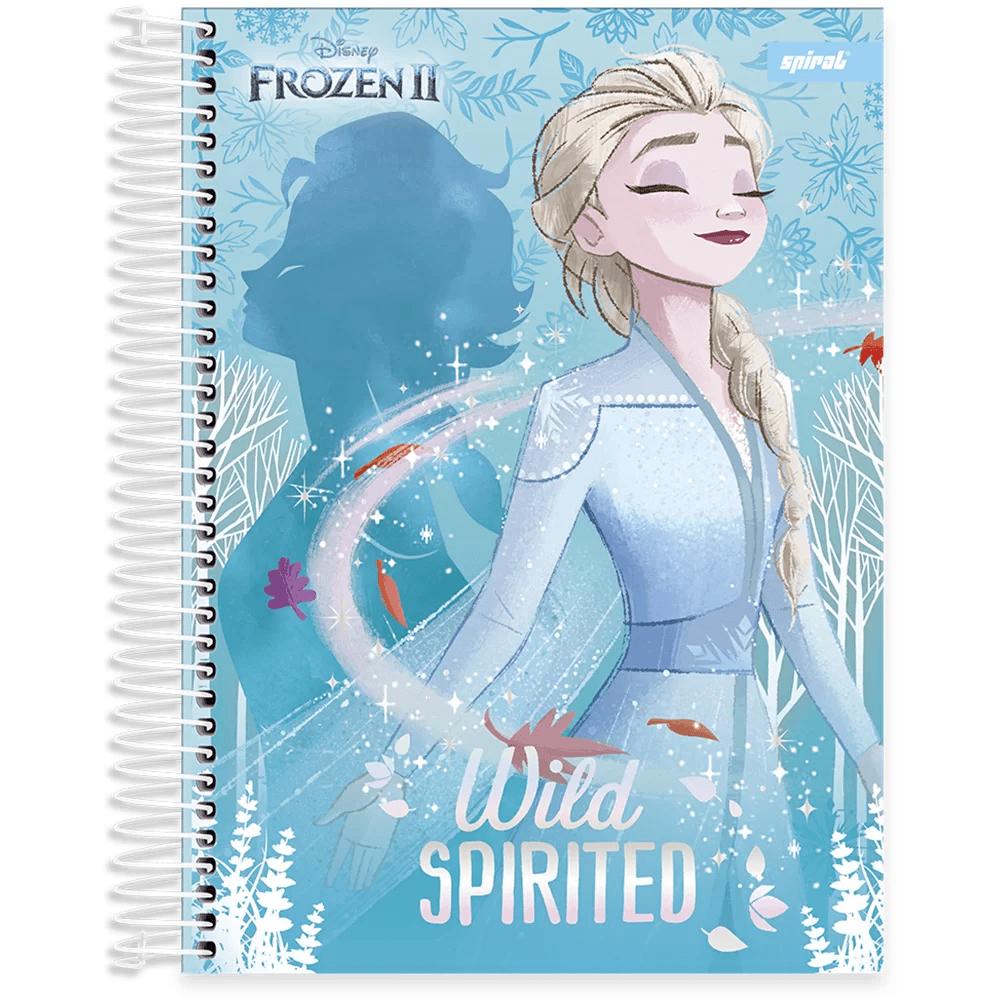 Caderno universitário capa dura 10x1 160 folhas Frozen 211799 Spiral PT 1 UN