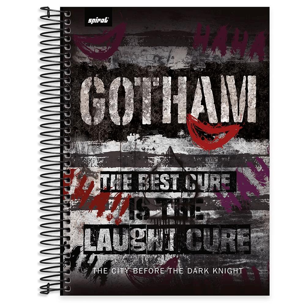 Caderno universitário capa dura 10x1 160 folhas Gotham Coringa 211845 Spiral PT 1 UN