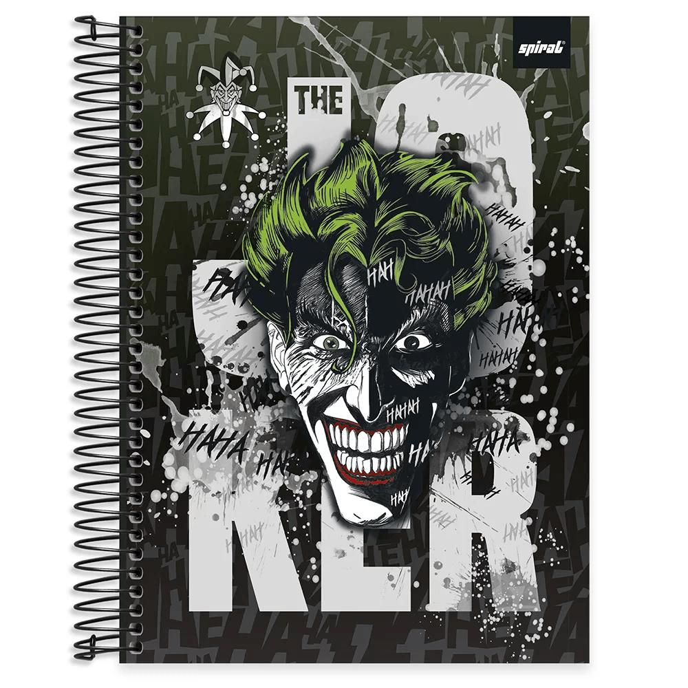 Caderno universitário capa dura 10x1 160 folhas Joker 211862 Spiral PT 1 UN