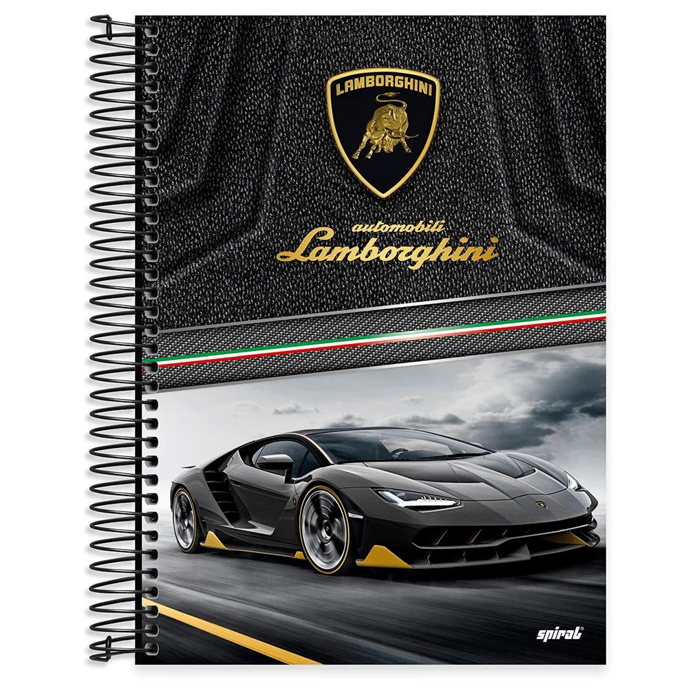 Caderno universitário capa dura 10x1 160 folhas Lamborghini 211865 Spiral PT 1 UN