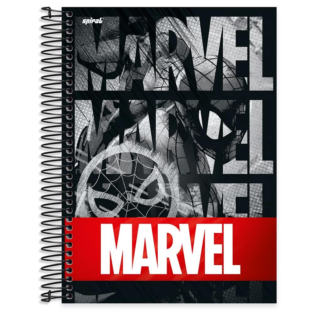 Caderno universitário capa dura 10x1 160 folhas Marvel Red Brick Homem Aranha 211880 Spiral PT 1 UN